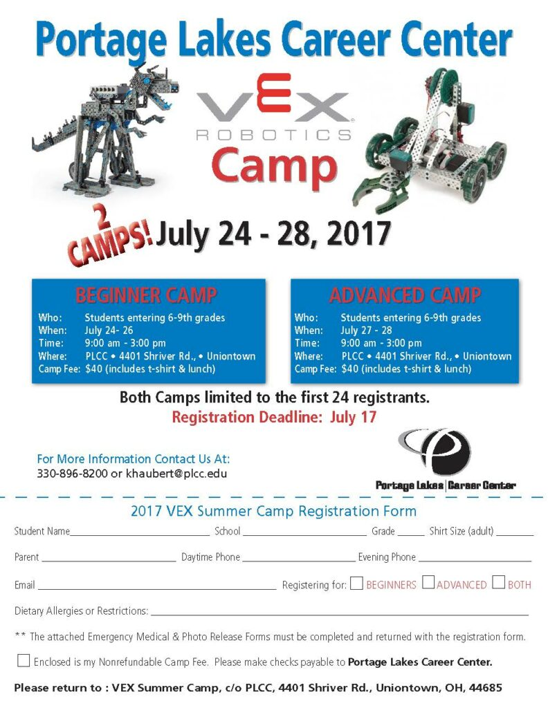 VEX Robotics Camp @ Portage Lakes Career Center | Uniontown | Ohio | United States